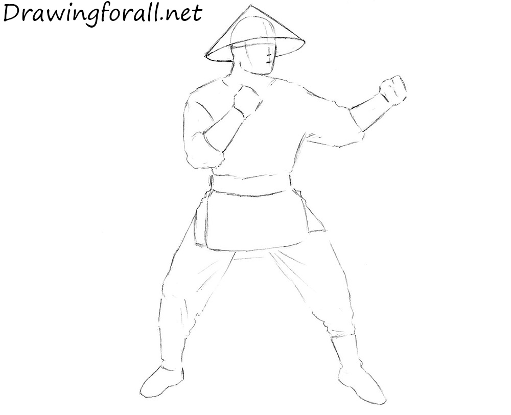 how to draw raiden from mkx