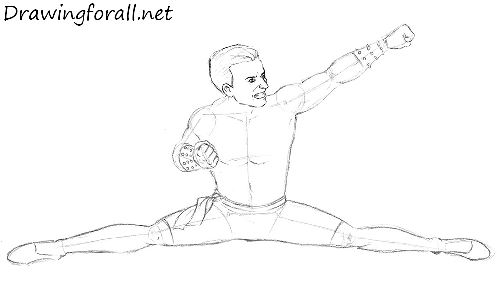 How to Draw Johnny Cage from mk1