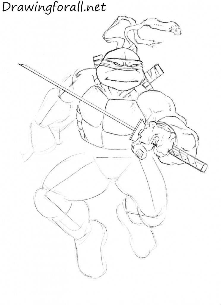 how to draw teenage mutant ninja turtles leonardo