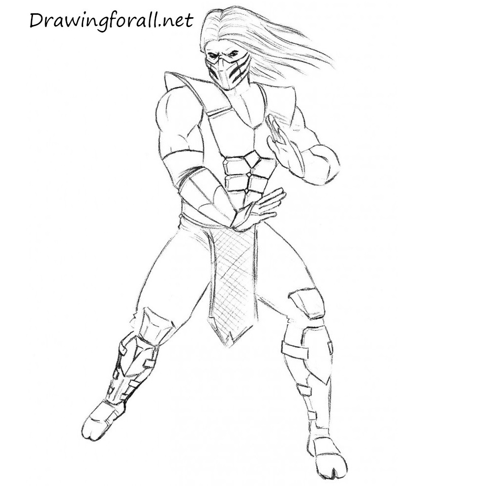 How to Draw Smoke from Mortal Kombat