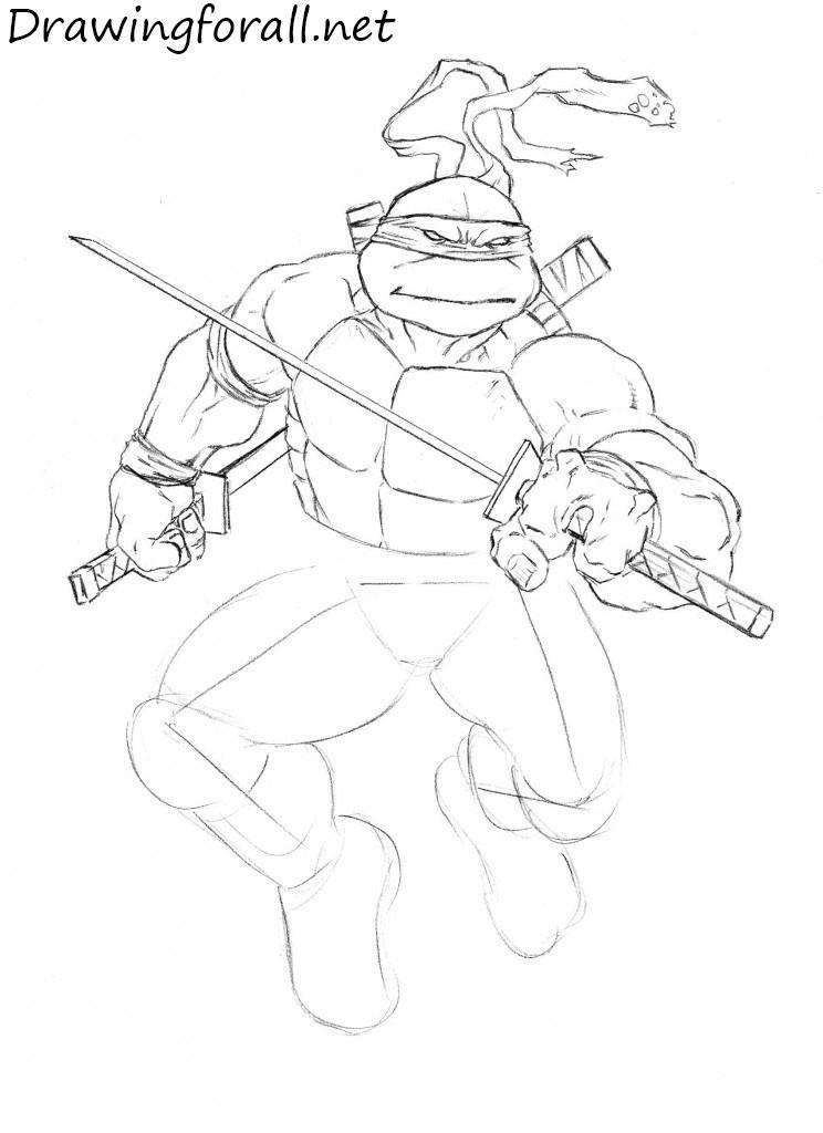how to draw teenage mutant ninja turtles comic