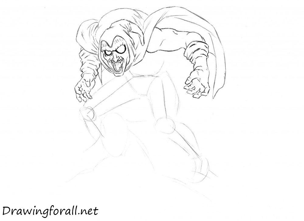 how to draw villain of spidreman