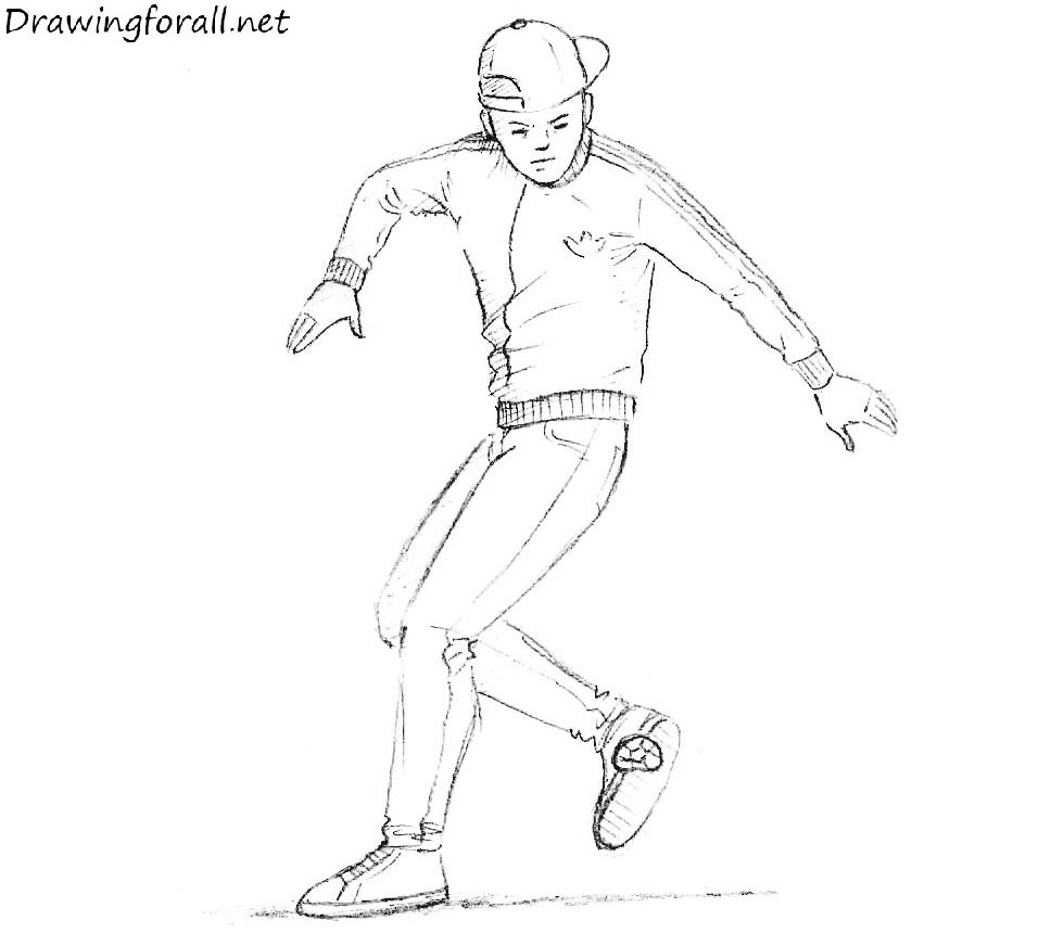 How-to-draw-the-freestyle-footbag-player