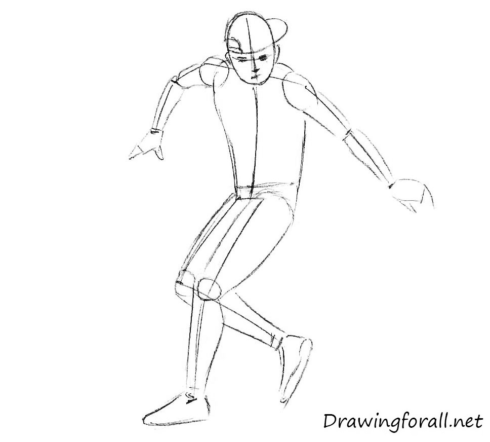 how to draw footbag