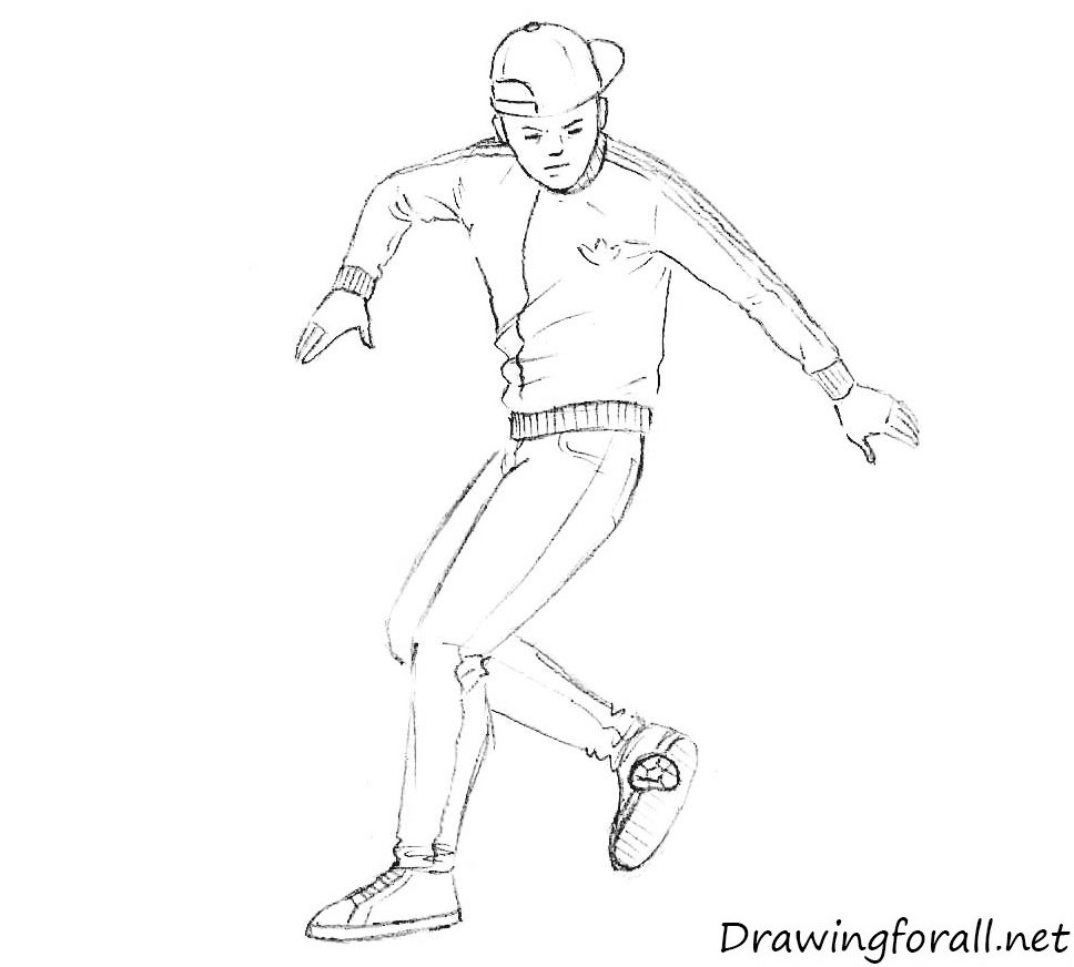 how to draw street sport footbag