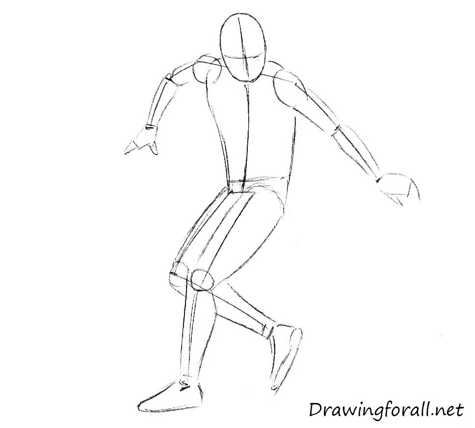 how to draw the freestyle football