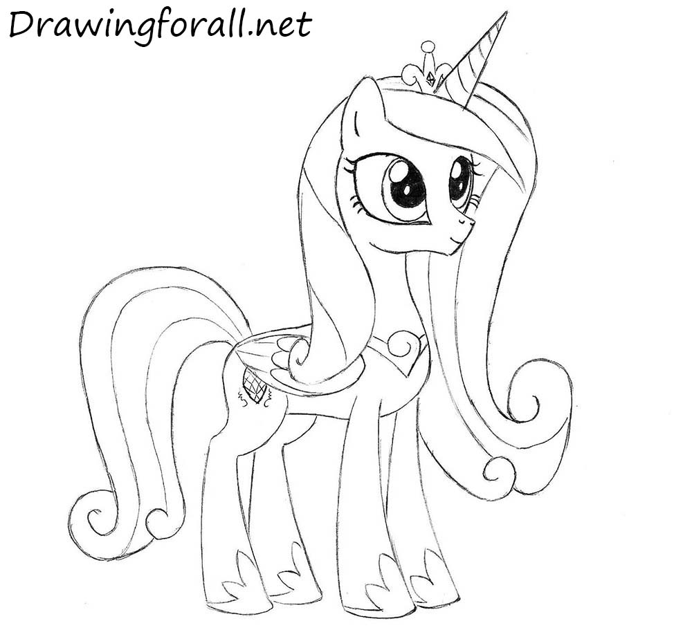 How to Draw Princess Cadence