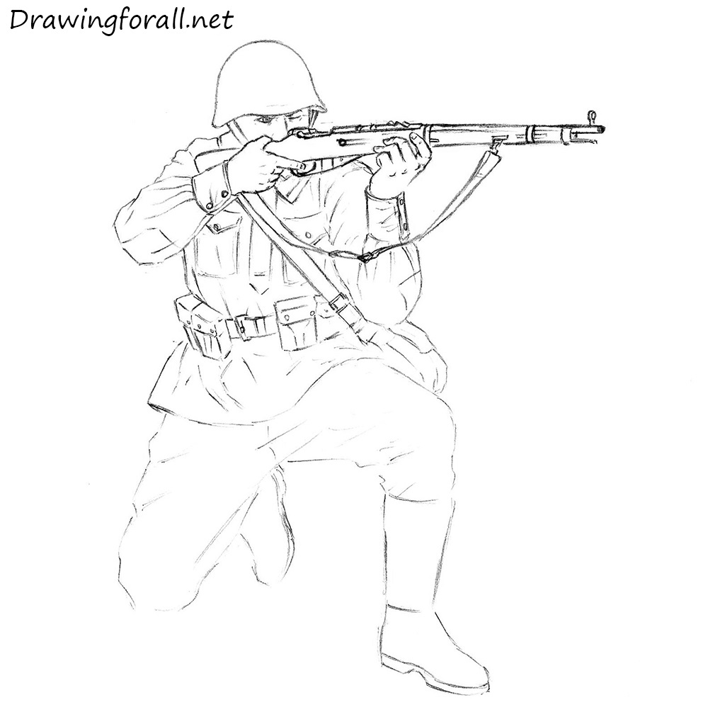 how to draw an army