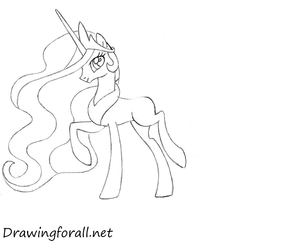 princess pony drawing