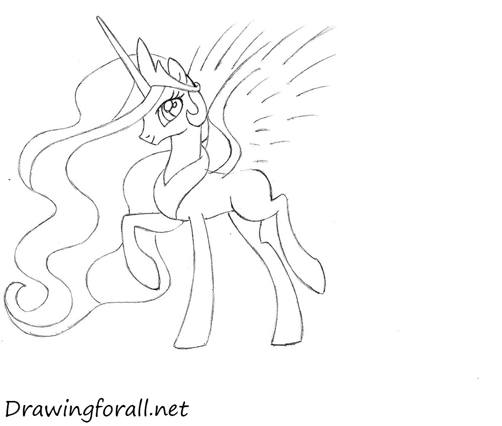 how to draw princess pony