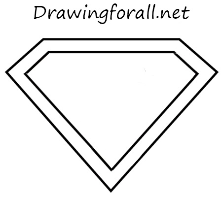 how to draw the superman logo with a pencil