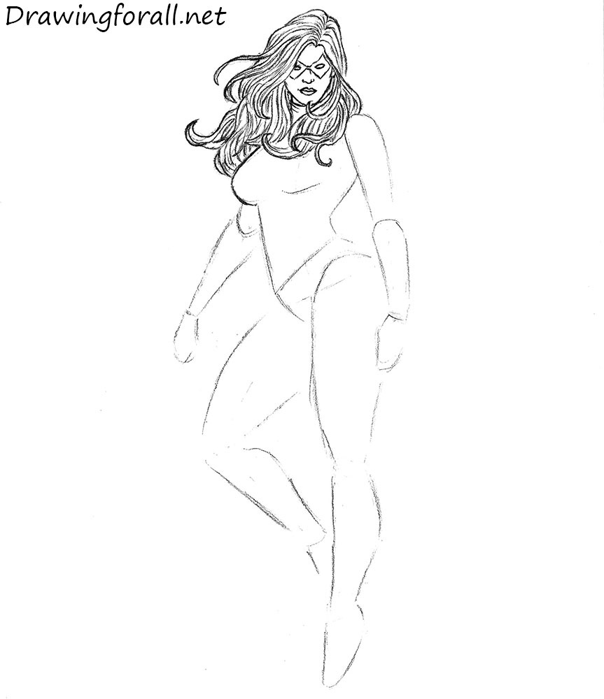 How to Draw Miss Marvel