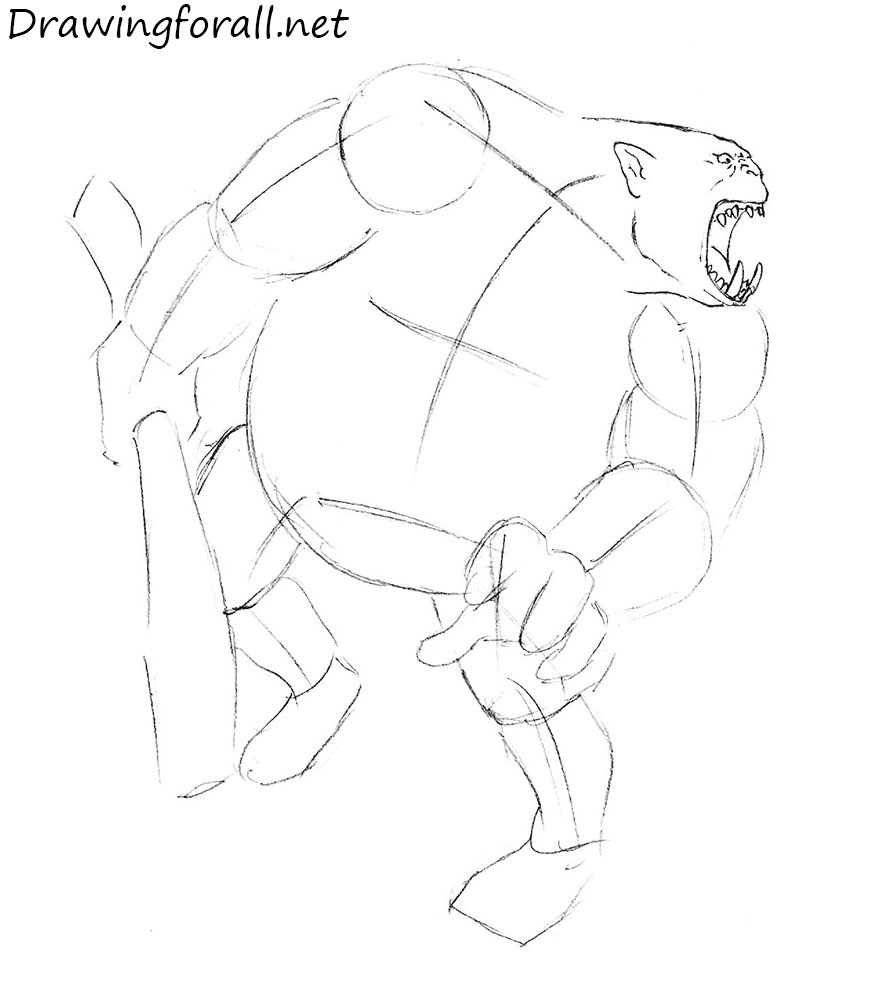 How to draw realistic ogre
