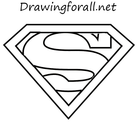 how to draw the superman sign