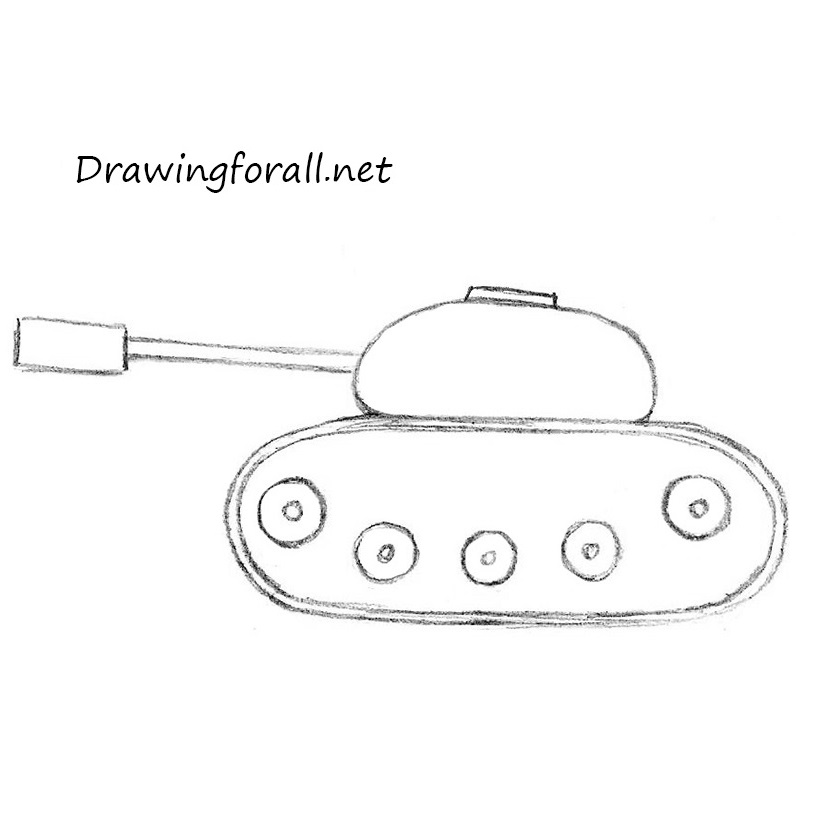 How To Draw A Tank For Kids Drawingforall Net