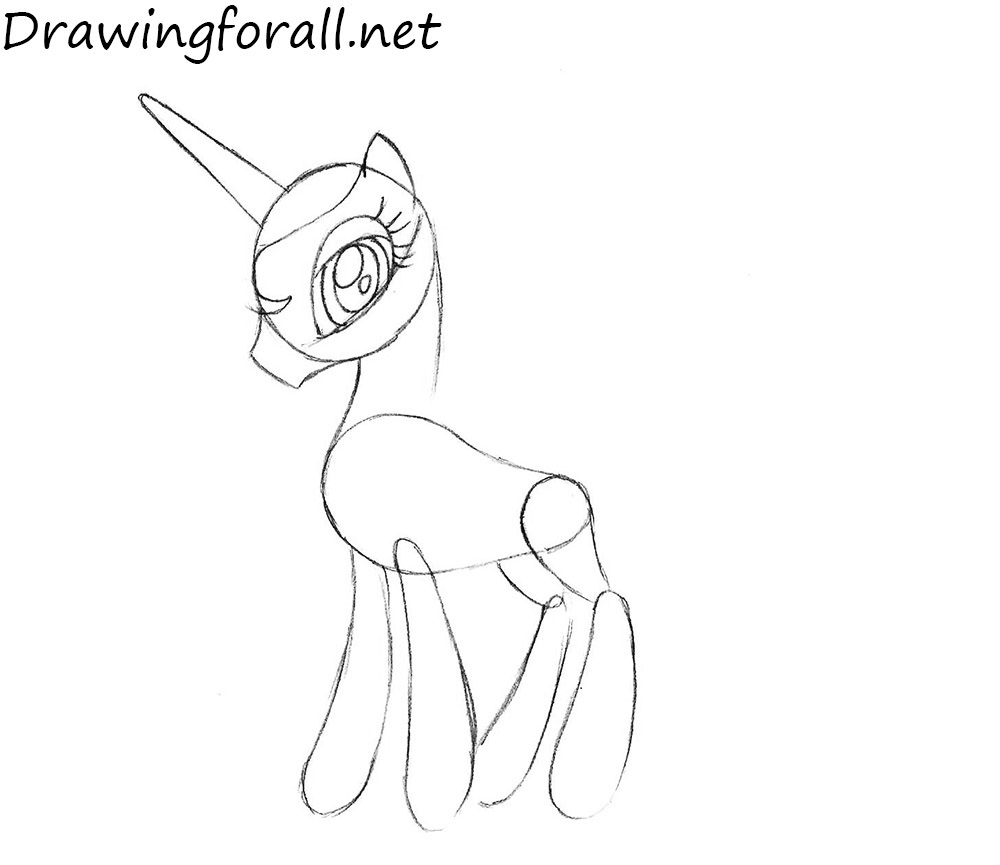 how to draw my little pony