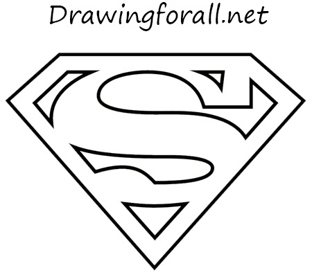 How To Draw The Superman Logo on letter e symbols