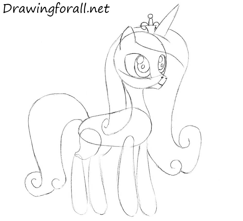 How to Draw Princess Cadence with a pencil