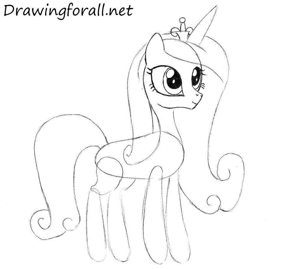 How to Draw Princess Cadence step by step