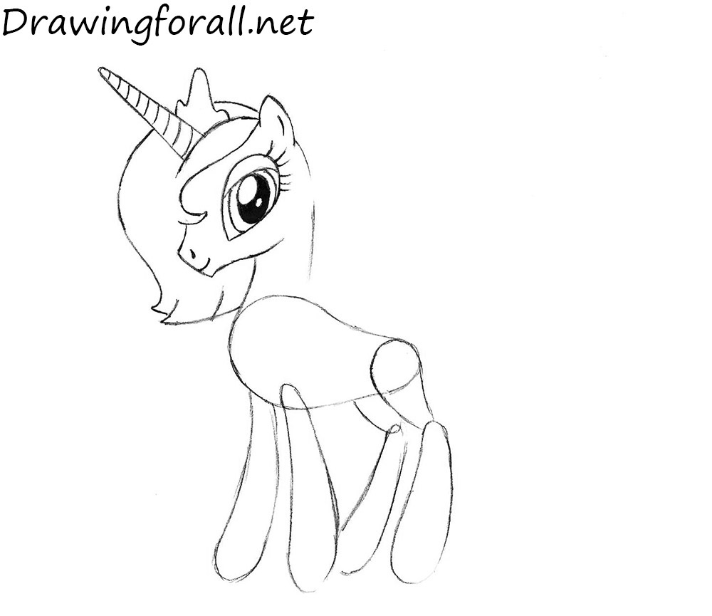 drawing princess luna