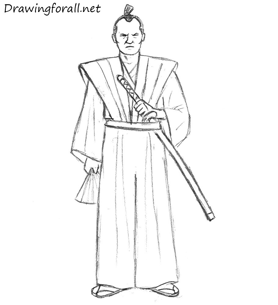 how to draw a samurai for beginners
