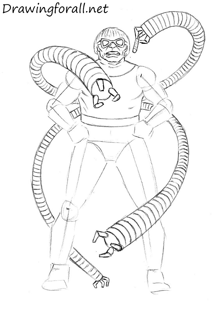 how to draw doc ock