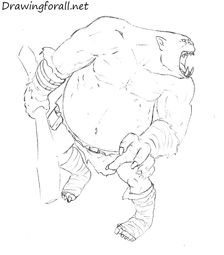 how to draw dungeons and dragons ogre
