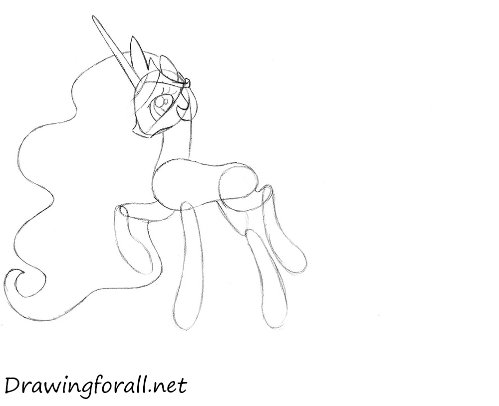 how to draw princess celestia step by step