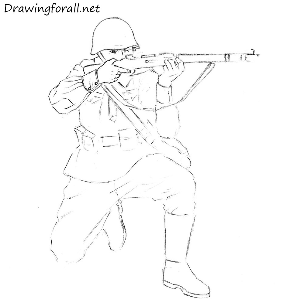 How to draw a soldier