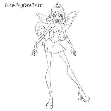 How to Draw Bloom from Winx Club