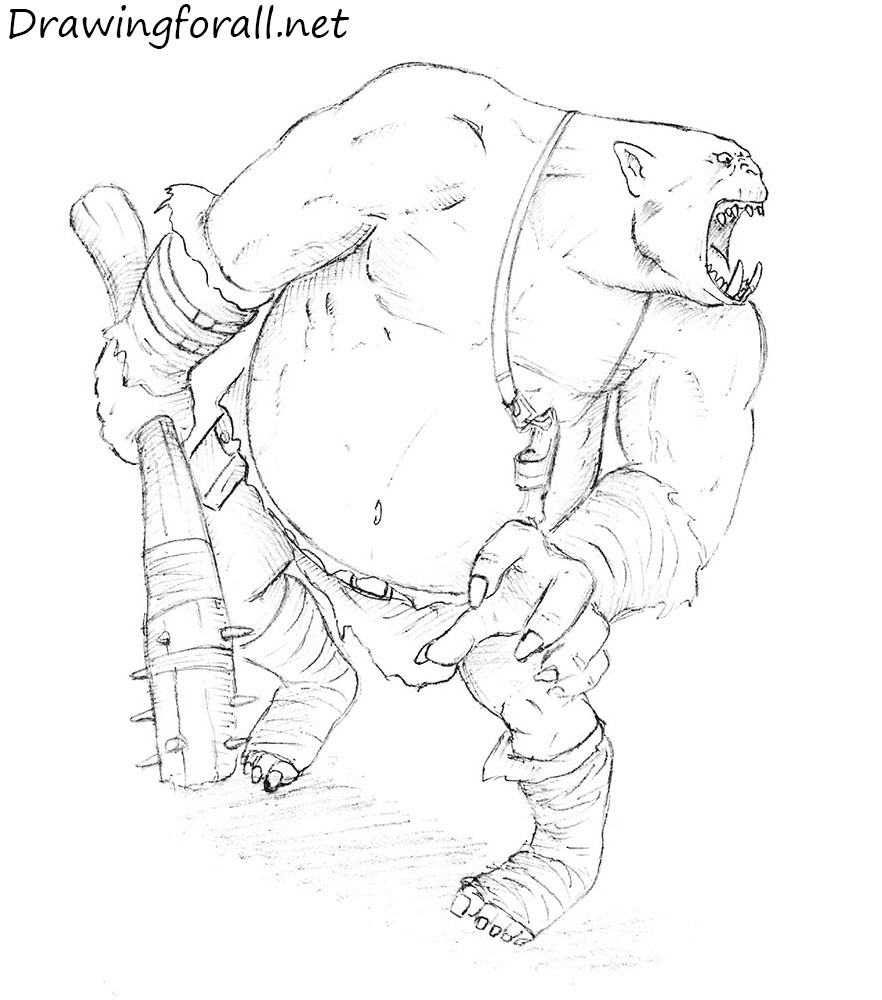 How to draw an ogre for How to make doodle art