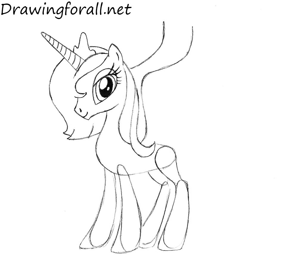 my little pony luna drawing