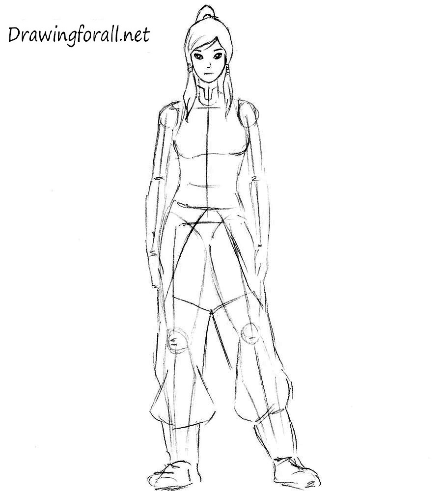 Avatar Korra drawing