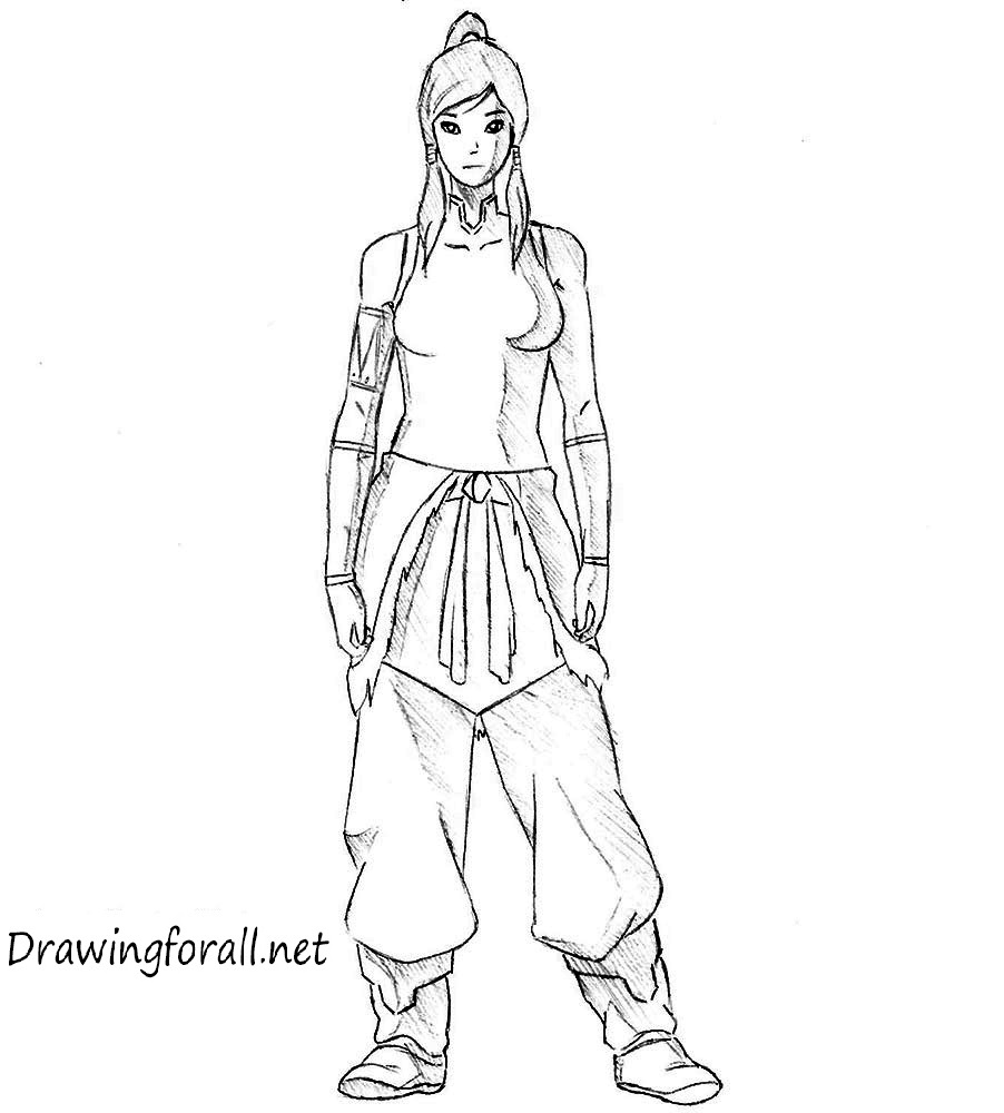 how to draw Korra from Avatar