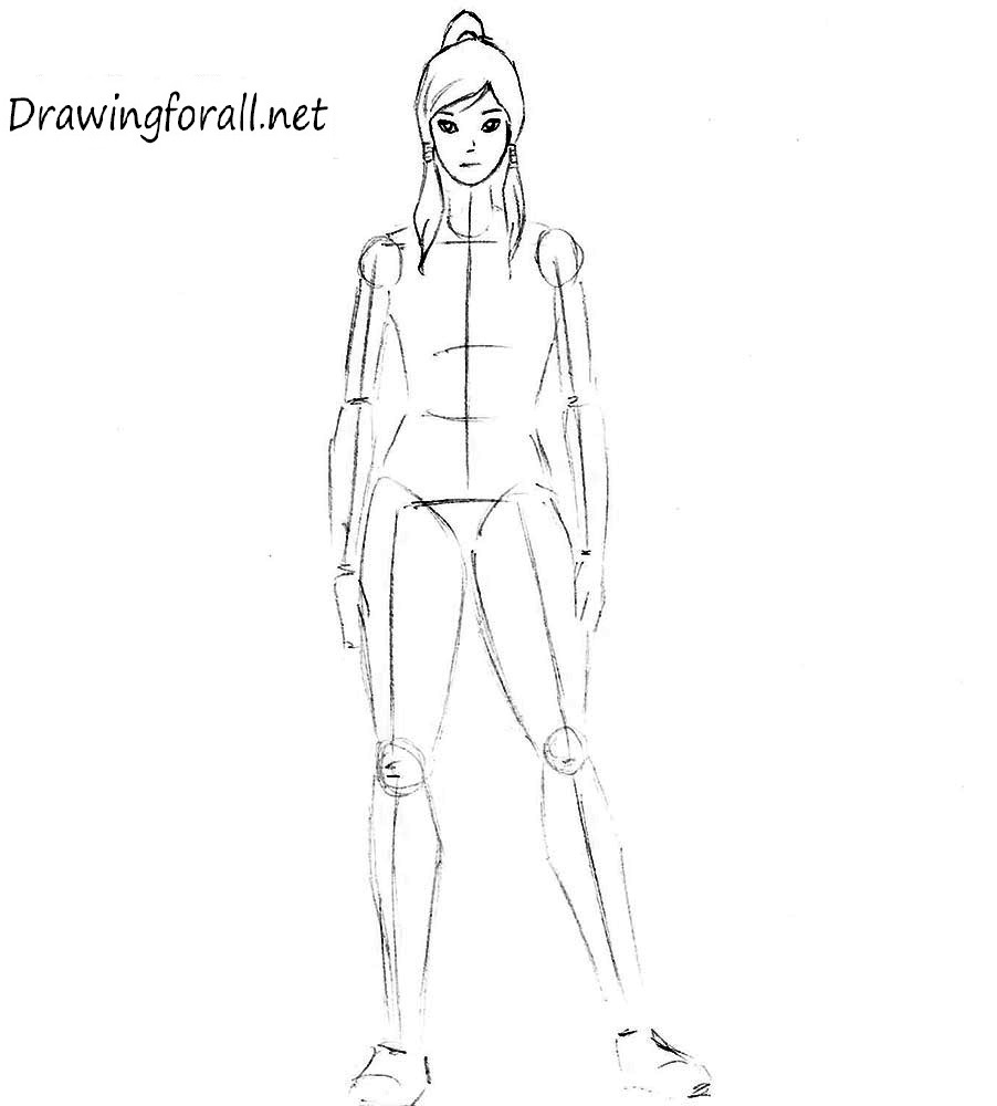 how to draw korra step by step