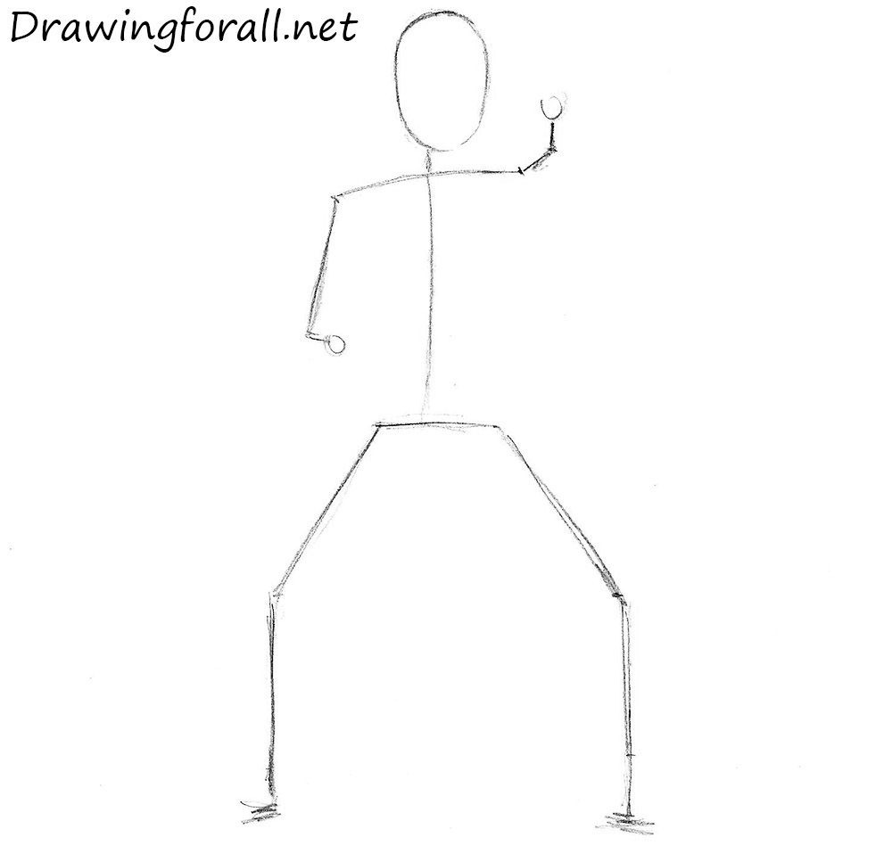 how to draw a stickman ninja