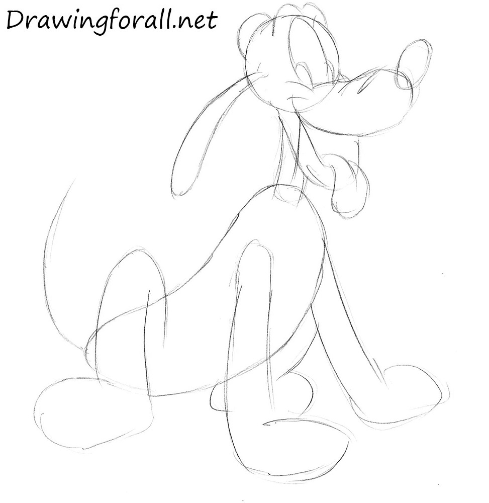 How to Draw Pluto from Mickey Mouse