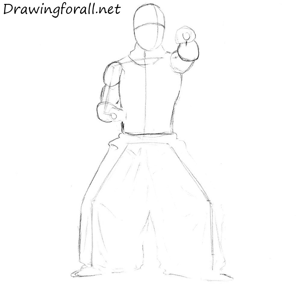 how to draw a ninja from 90's