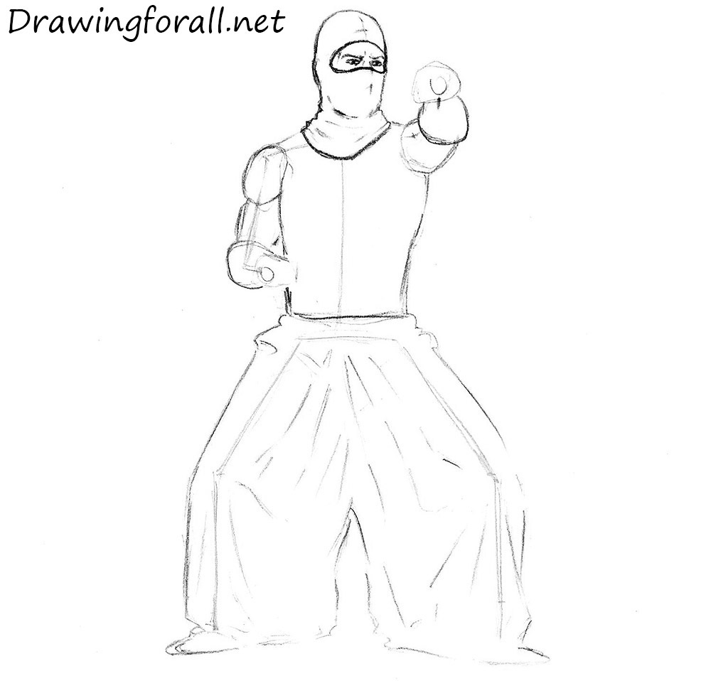 How To Draw A Ninja From Movie
