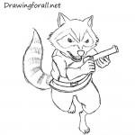 How to Draw Rocket Raccoon