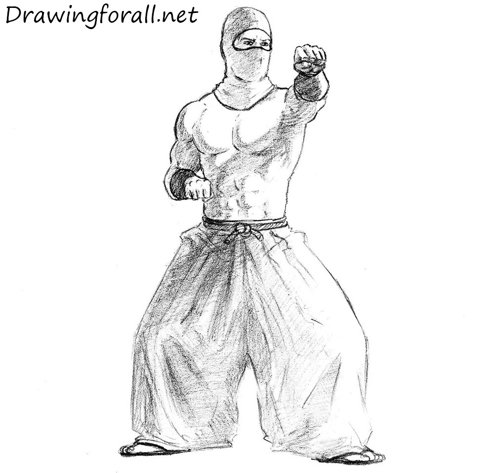 how to draw a ninja step by step drawingforallnet