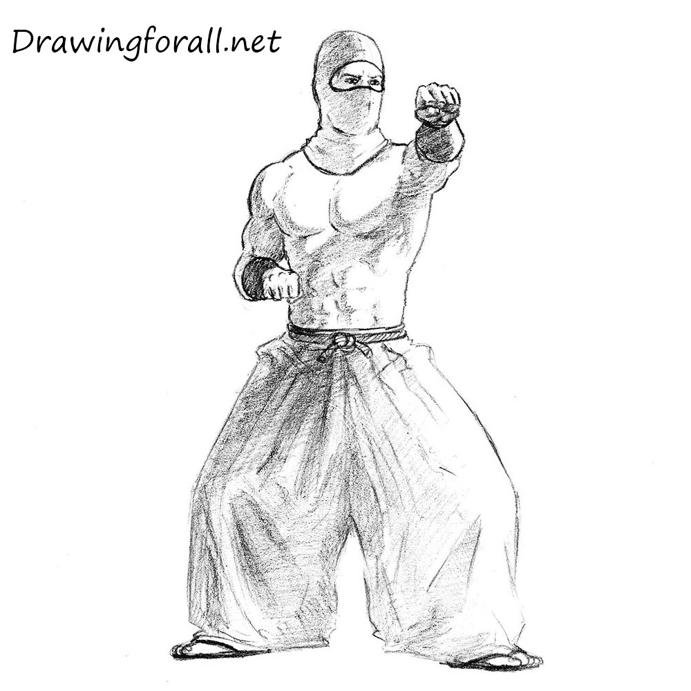 Uncategorized Draw Ninja how to draw a ninja drawingforall net step by step