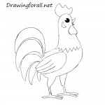 How to Draw a Rooster
