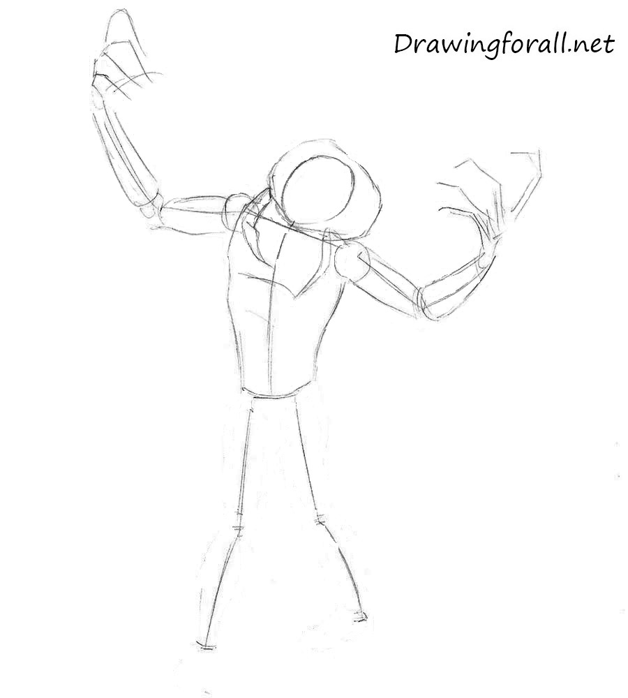 how to draw zombie by pencil