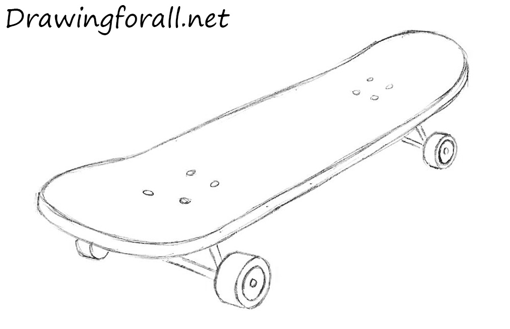 skateboard drawing