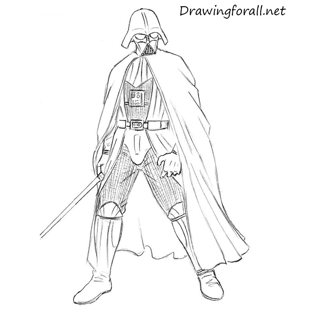 How To Draw Darth Vader Drawingforall Net