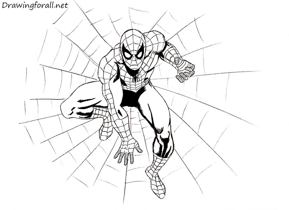 The Amazing Spider-Man Drawing Tutorial