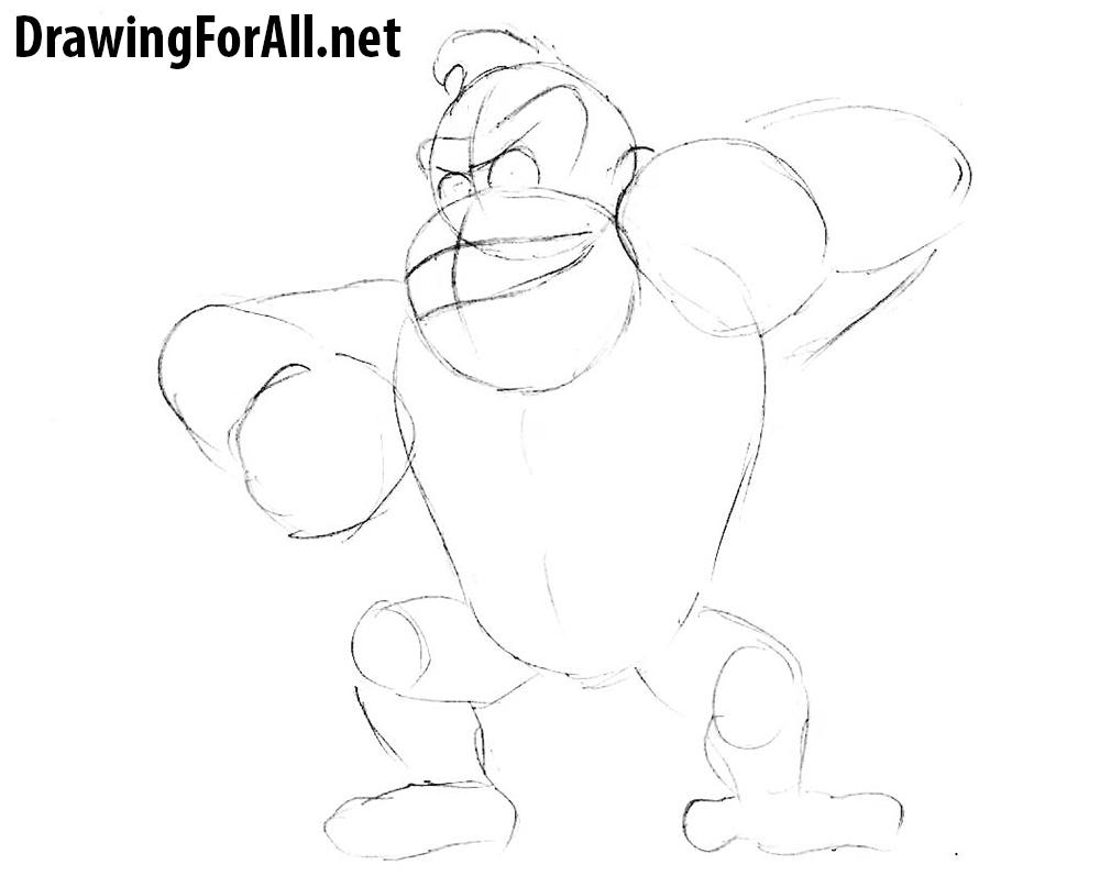 2 donkey kong drawing