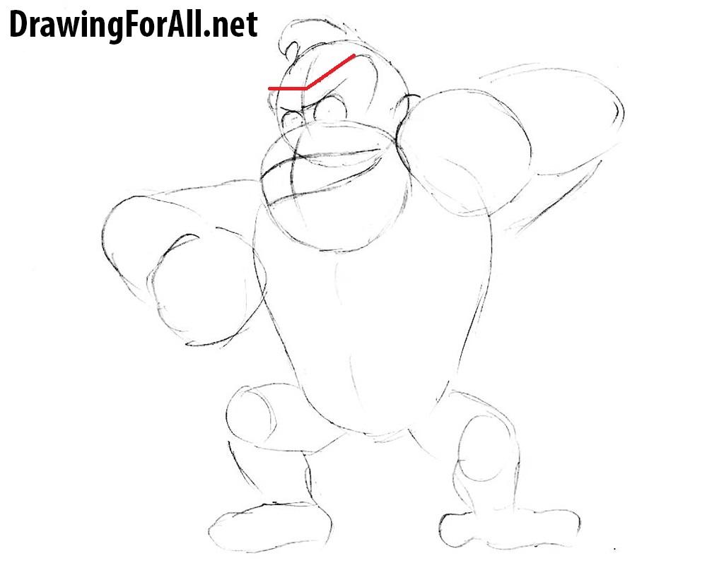 donkey kong drawing