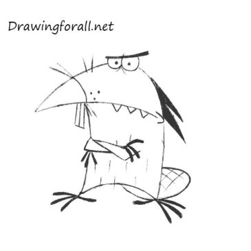 How to Draw Daggett from the Angry Beavers
